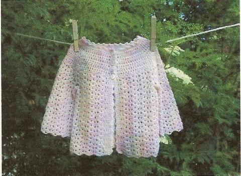hæklet baby trøje