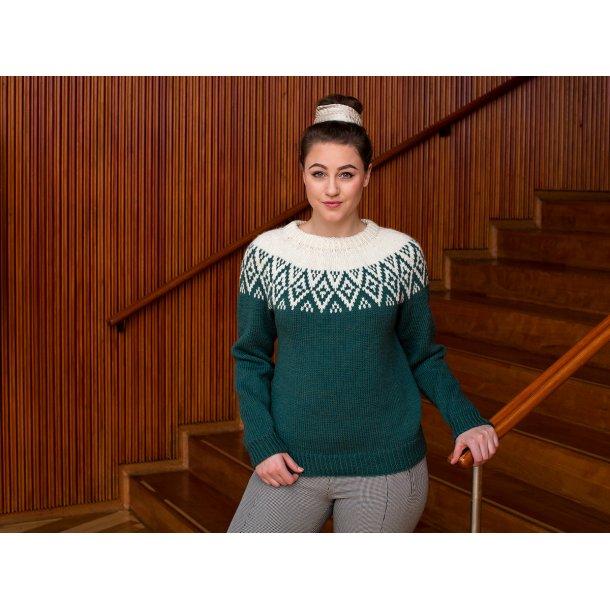 Lykke - fin og feminin sweater - Gratis PDF strikkeopskrift