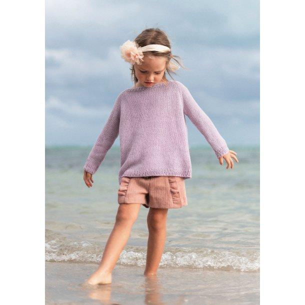Raglanbluse til børn Gratis PDF strikkeopskrift (Norsk)